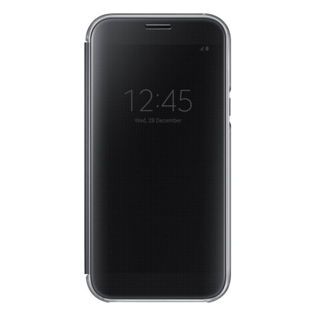 Official Samsung Galaxy A7 2017 Clear View Stand Cover Case - Black