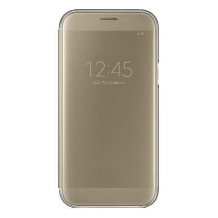 superior quality 9cf2c 077a3 Official Samsung Galaxy A7 2017 Clear View Stand Cover Case - Gold