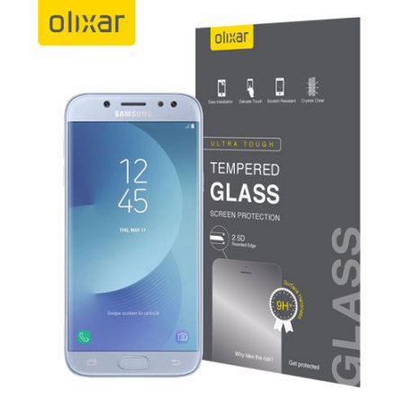 Olixar Samsung Galaxy J5 2017 Tempered Glass Displayschutz