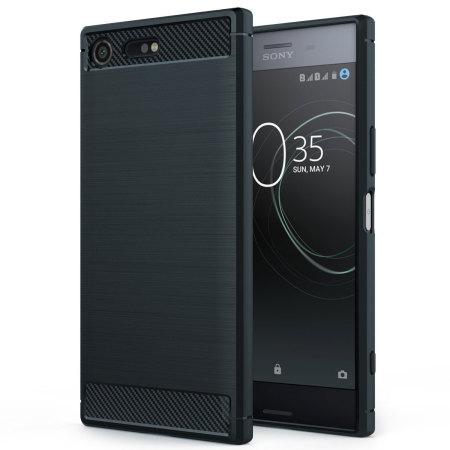 Olixar Sony Xperia XZ Premium Carbon Fibre Design Slim Case - Black