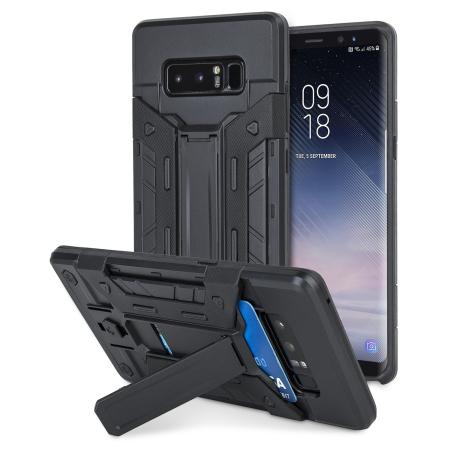 separation shoes 3bbfe 26275 Olixar XTrex Galaxy Note 8 Rugged Card Kickstand Case - Black
