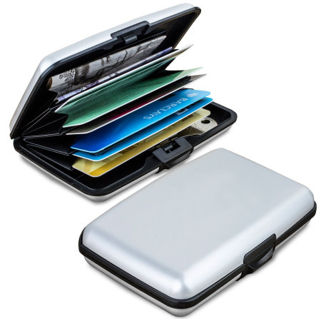 Acardion Aluminium Credit Card Fraud Blocking Armoured Wallet - Silver