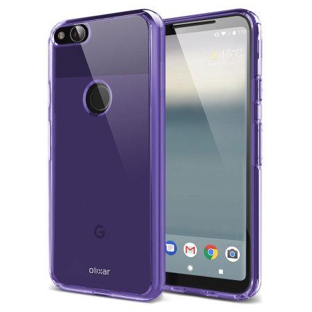 Olixar FlexiShield Google Pixel 2 XL Gel Case - Purple