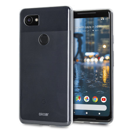 Olixar Ultra-Thin Google Pixel 2 XL Gel Case - 100% Clear