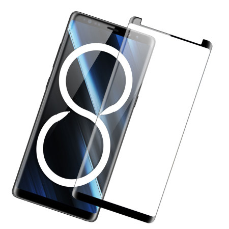 Olixar Galaxy Note 8 Case Compatible Glass Screen Protector - Black