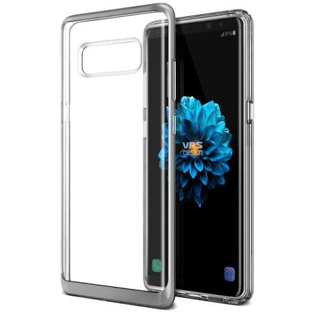 VRS Design Crystal Bumper Samsung Galaxy Note 8 Case - Steel Silver