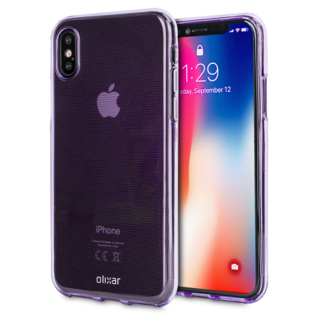 Olixar FlexiShield iPhone 8 Gel Case - Purple