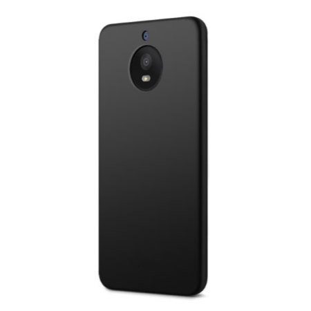 Olixar FlexiShield Motorola Moto E4 Gel Case - Solid Black