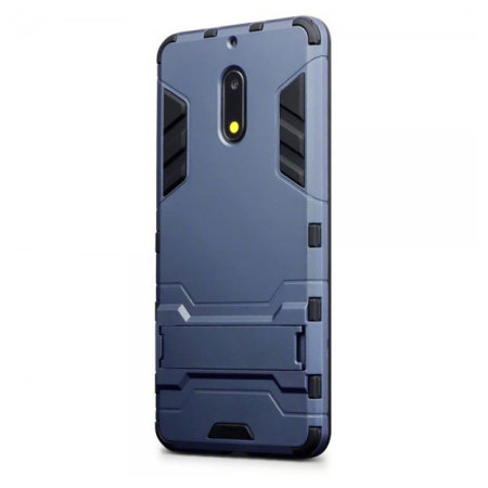 Olixar Nokia 6 Dual Layer Armour Case & Kickstand - Blue