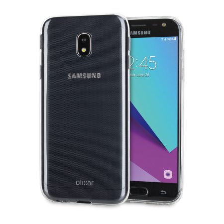 new arrivals 1250a f3210 Olixar Ultra-Thin Samsung Galaxy J3 2017 Gel Case - 100% Clear