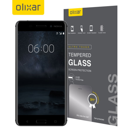Olixar Nokia 6 Tempered Glass Screen Protector