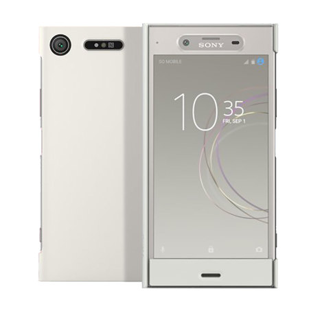 best website 5b9be 5c55a Official Sony Xperia XZ1 Style Cover Touch Case - Silver