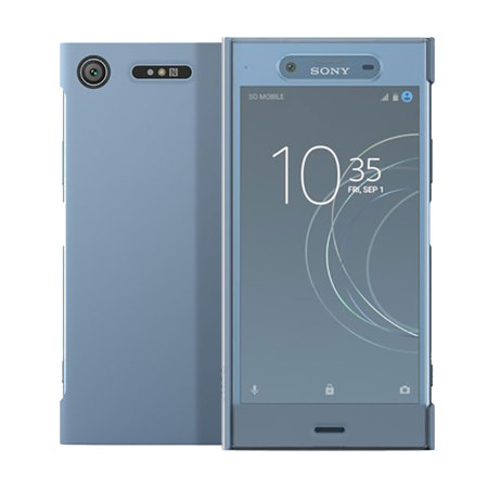 best service 42649 dfd01 Official Sony Xperia XZ1 Style Cover Touch Case - Blue