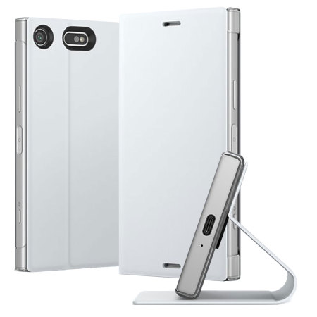 factory authentic da328 52081 Official Sony Xperia XZ1 Compact Style Cover Stand - White