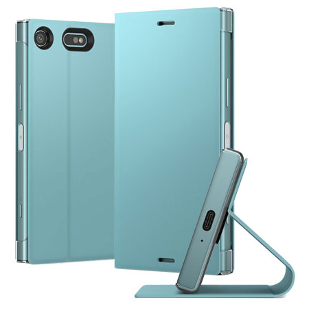 Housse officielle Sony Xperia XZ1 Compact Style Cover Stand – Bleue