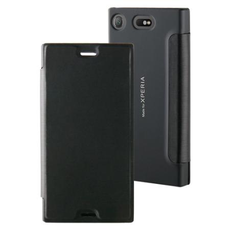 roxfit xz1 compact  Roxfit Urban Book MFX Sony Xperia XZ1 Compact Slim Case - Black