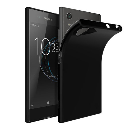 coque sony xperia xa1 plus flexishield en gel noire. Black Bedroom Furniture Sets. Home Design Ideas