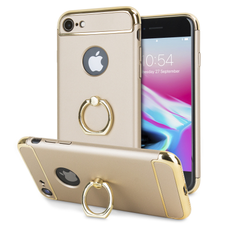 olixar xring iphone 8 / 7 finger loop case - gold