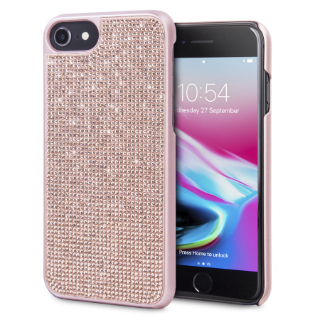 Funda iPhone 8 / 7 / 6S / 6 LoveCases Luxury Crystal - Oro Rosa