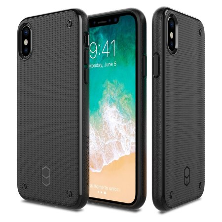 patchworks flexguard iphone x case - black