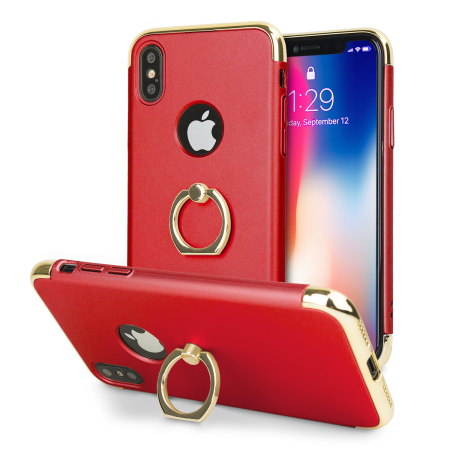 olixar xring iphone x finger loop case - red reviews