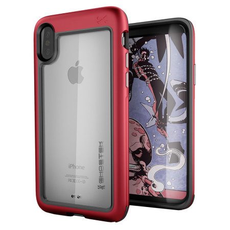ghostek atomic slim iphone x tough case - red reviews