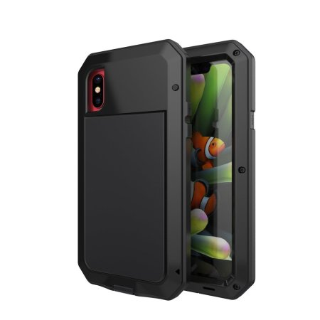 love mei powerful iphone x protective case - black