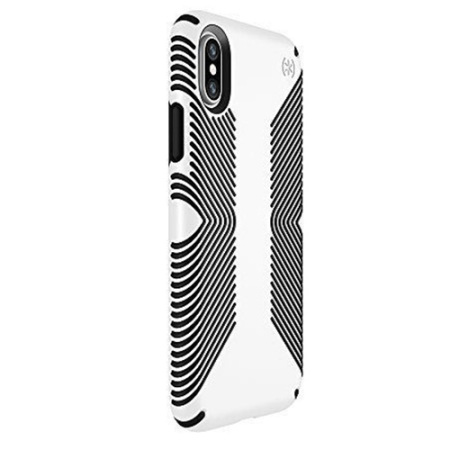 speck presidio grip iphone x tough case - black / white reviews