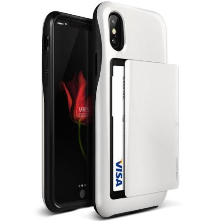 vrs design damda glide iphone x case - white