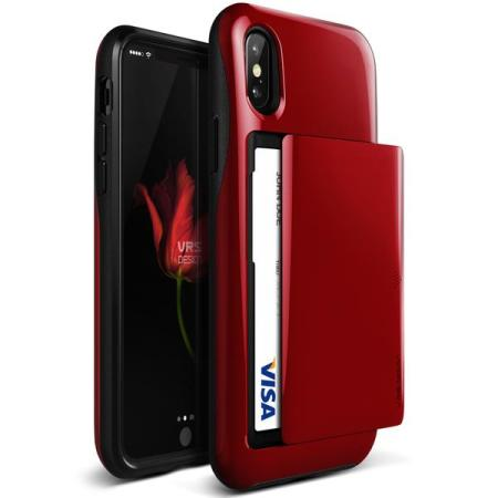 vrs design damda glide iphone x case - red