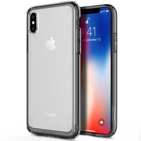 obliq naked shield iphone x gold case - black