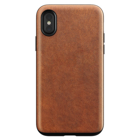 nomad iphone x genuine leather rugged case - rustic brown reviews