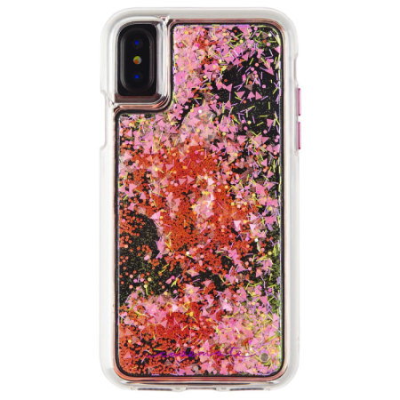 coque iphone x rose mat