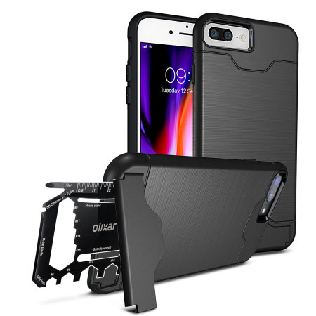 promo code 06064 3ca16 Olixar X-Ranger iPhone 8 Plus / 7 Plus Survival Case - Tactical Black