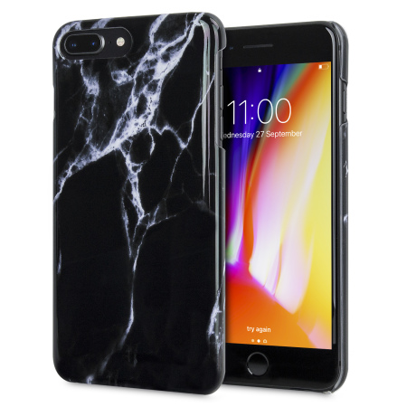 LoveCases Marble iPhone 8 Plus / 7 Plus Case - Black