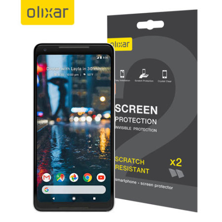 olixar google pixel xl screen protector 2 in 1 pack