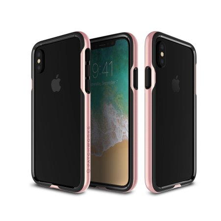 patchworks level silhouette iphone x bumper case - rose gold