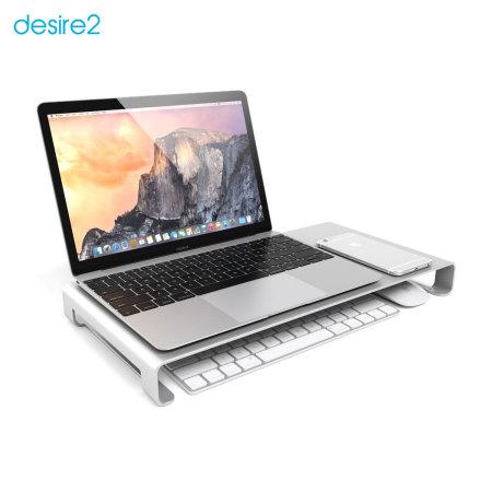 Réhausseur pour ordinateur portable Desire2 View My Screen – Argent