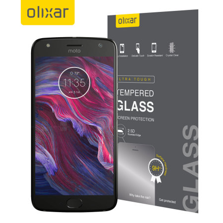 Olixar Motorola Moto X4 Tempered Glass Screen Protector