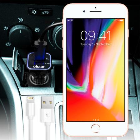 chargeur voiture iphone 8 8 plus lightning olixar haute. Black Bedroom Furniture Sets. Home Design Ideas