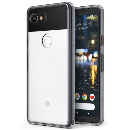 Rearth Ringke Fusion Case Google Pixel 2 XL Hülle - Smoke Black