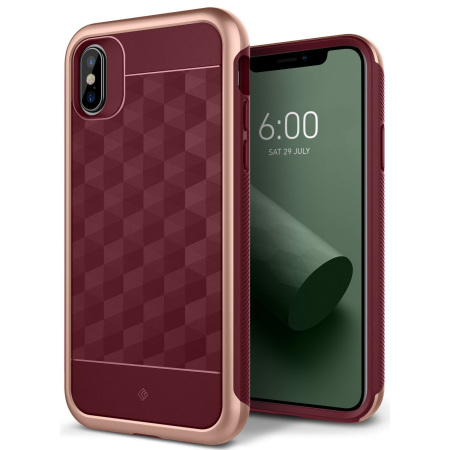 caseology parallax series iphone x case - burgundy reviews