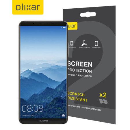 Olixar Huawei Mate 10 Pro Skärmskydd - Tvåpack