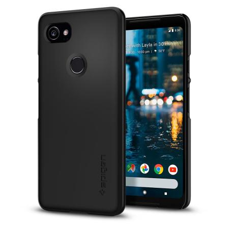 Spigen Thin Fit Google Pixel 2 XL Shell Case - Black