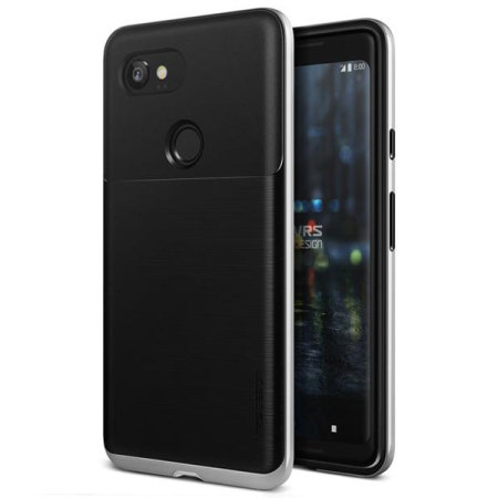 VRS Design High Pro Shield Google Pixel 2 XL Case - Satijn Zilver