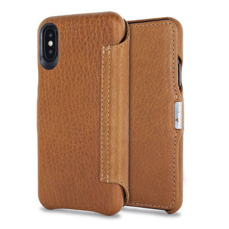 vaja agenda mg iphone x premium leather flip case - tan reviews