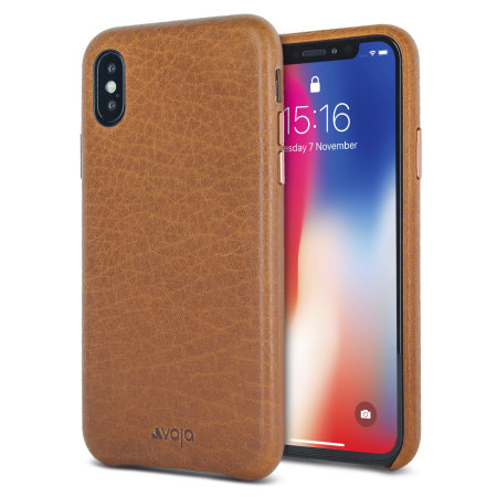 vaja grip slim iphone x premium leather case - tan reviews