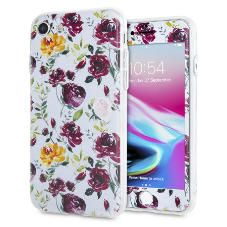 lovecases floral art iphone 8 / 7 case - blue