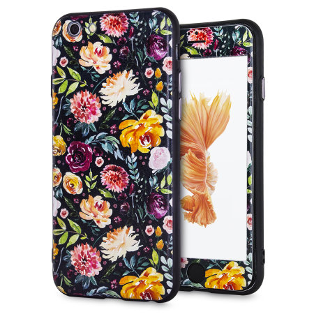 lovecases floral art iphone 6s case - black reviews