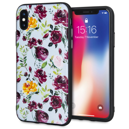 lovecases floral art iphone x case - blue reviews